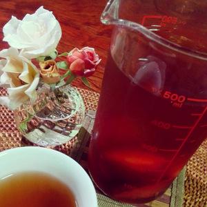 蔵茶とソルダムの冷茶