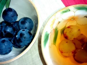 秋のフルーツと蔵茶
