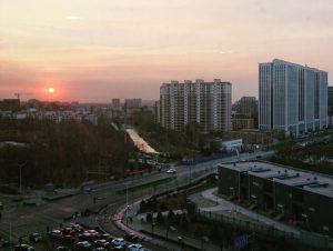 北京にて朝